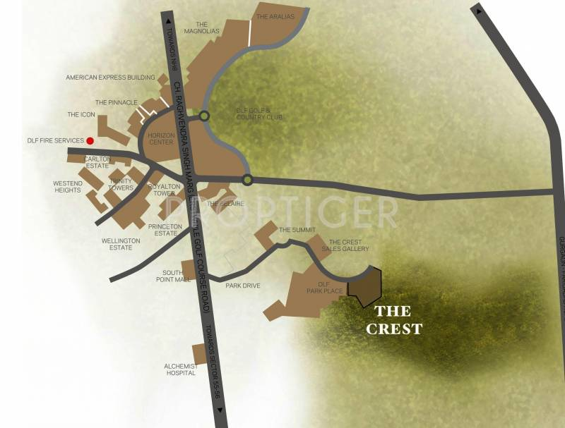 the-crest Images for Location Plan of DLF The Crest