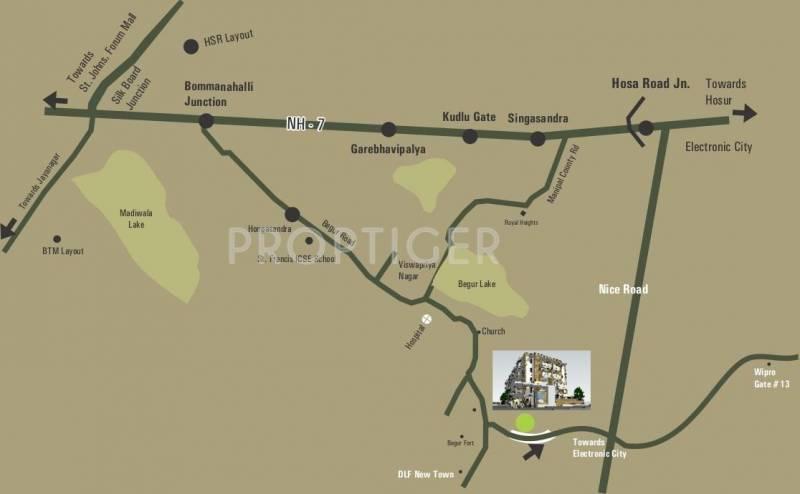 genesis Images for Location Plan of Niranjan Genesis