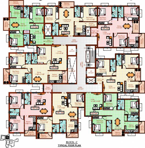 Images for Cluster Plan of Sree Sai Air View Apartments