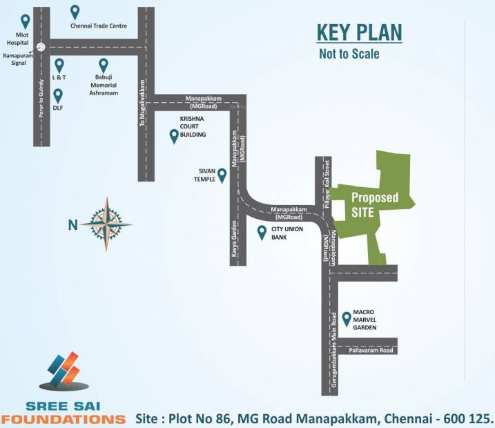 Images for Location Plan of Sree Sai Air View Apartments
