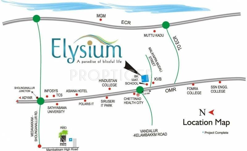 elysium Images for Location Plan of Ramky Elysium