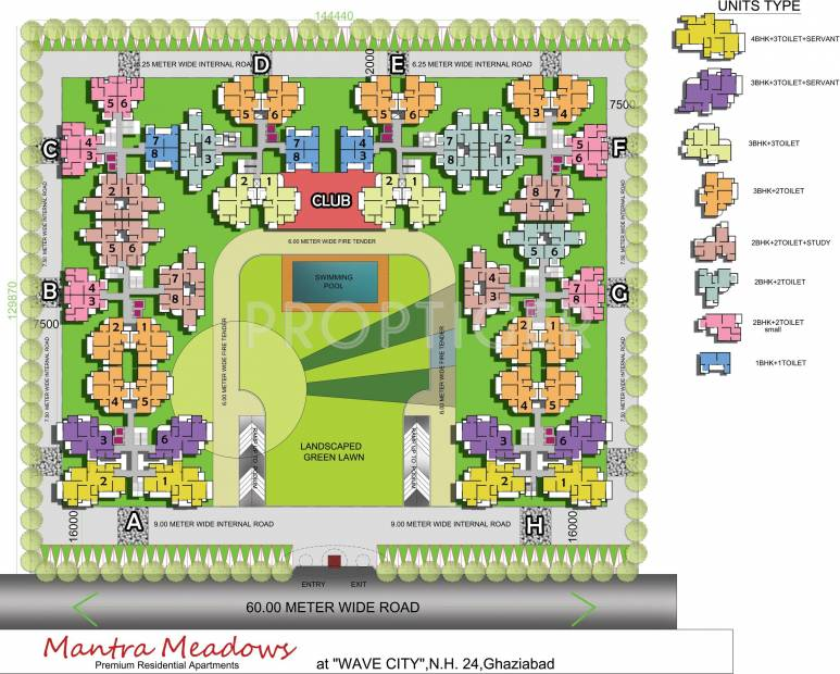 Images for Layout Plan of Adarsh Mantra Meadows