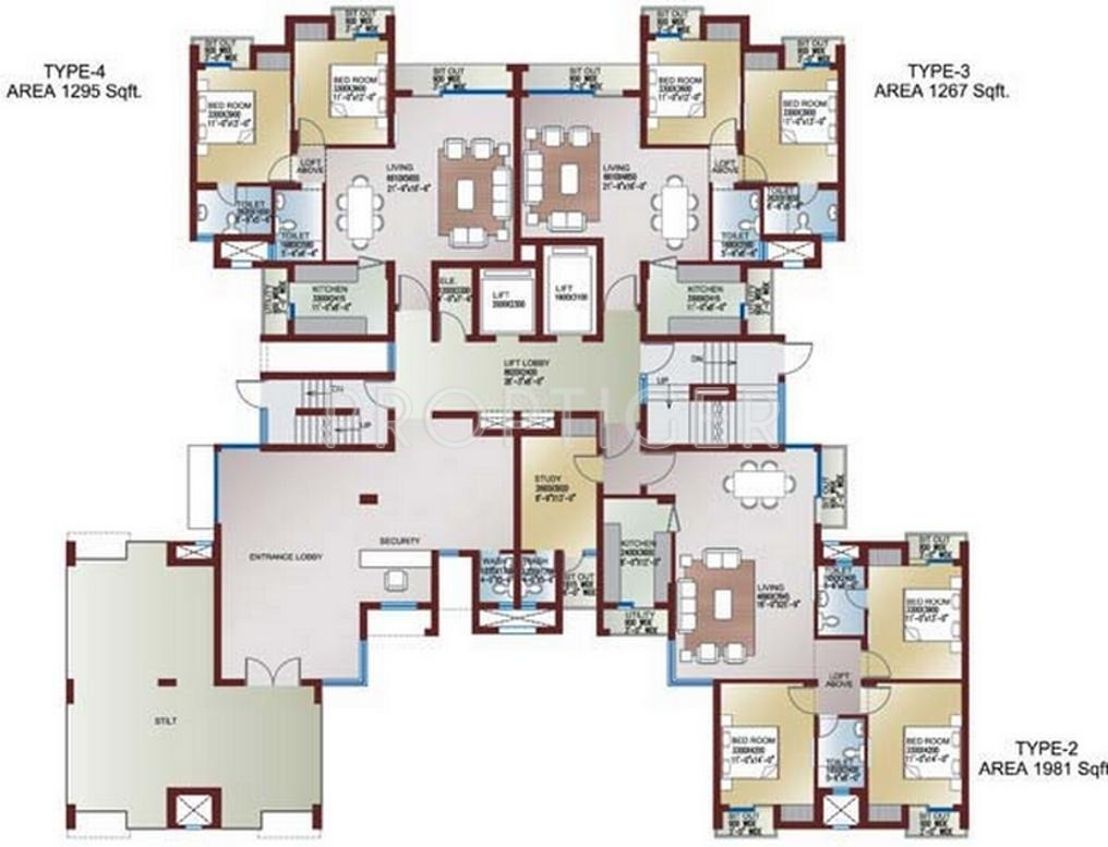1295 Sq Ft 2 Bhk 2t Apartment For Sale In Ansal Api