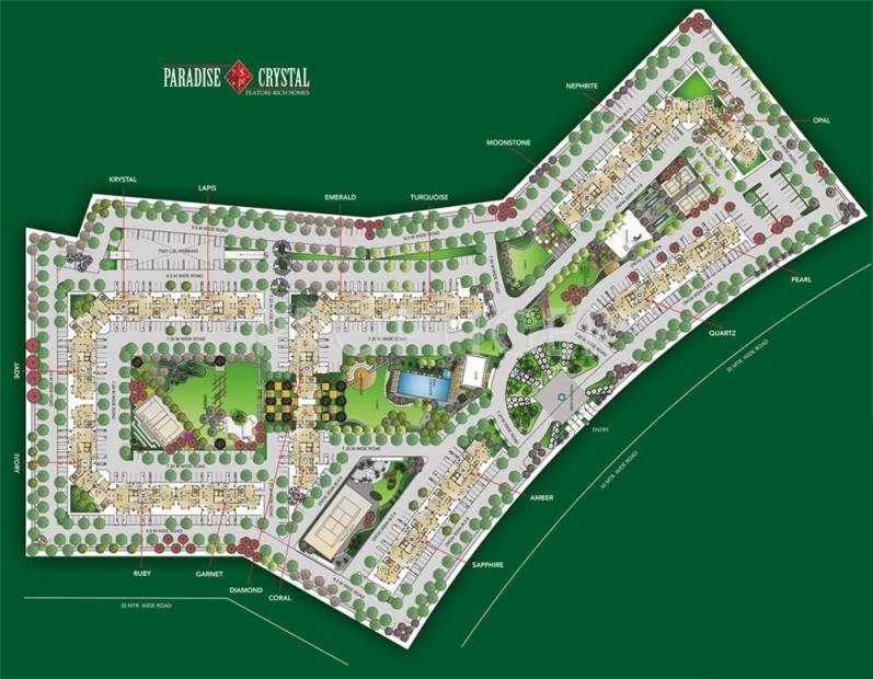Images for Site Plan of Ansal Paradise Crystal