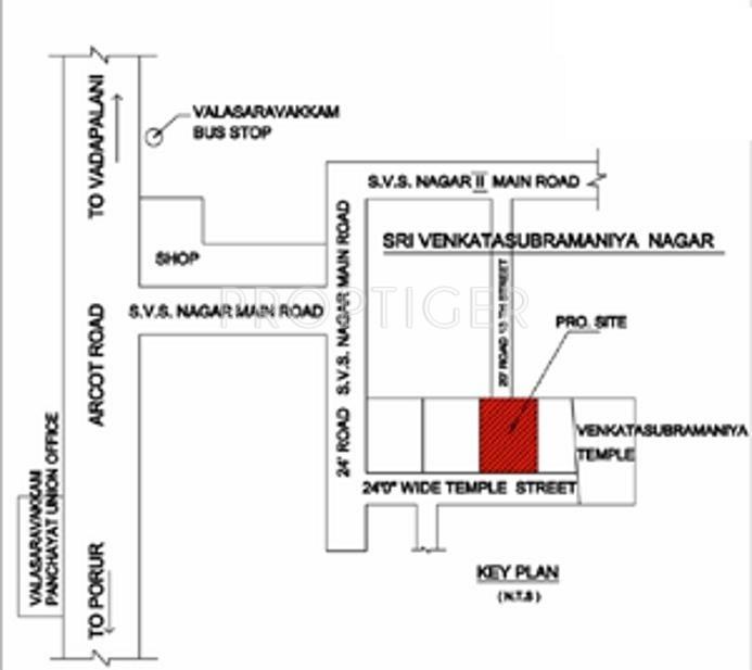 Rajni Foundation Rajni Kumaaran Villa Location Plan