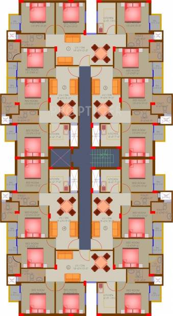 Images for Cluster Plan of Jaguar Infrastructure Aryan Apartment