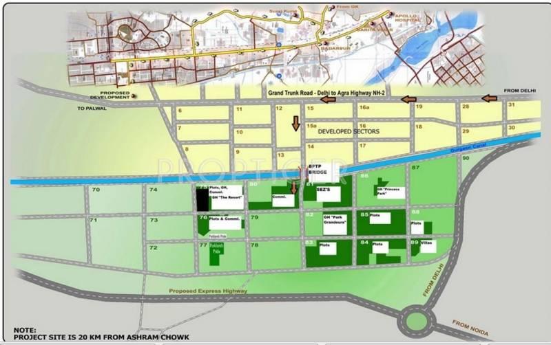 park-grandeura Images for Location Plan of BPTP Park Grandeura