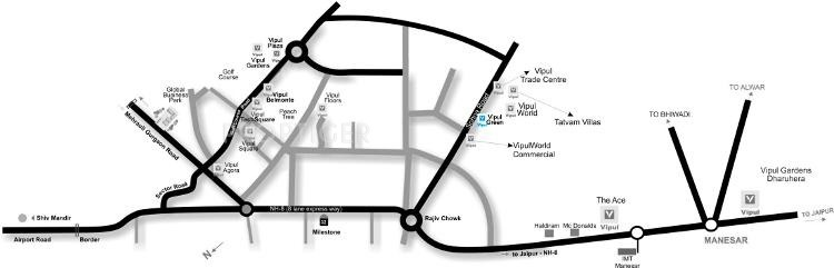 Images for Location Plan of Vipul Greens