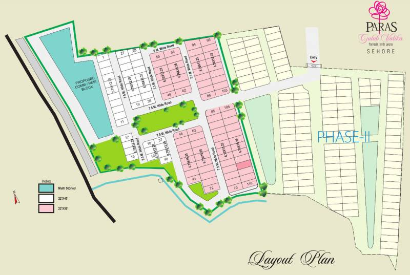 Images for Layout Plan of Paras Lifestyles Gulab Vatika Apartment