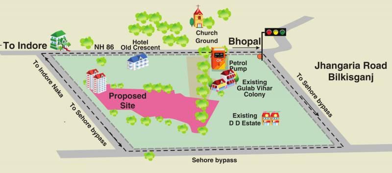 Images for Location Plan of Paras Lifestyles Gulab Vatika Apartment