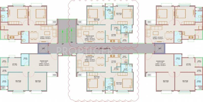 1 2 Bhk Cluster Plan Image Adani Group Aangan For Sale
