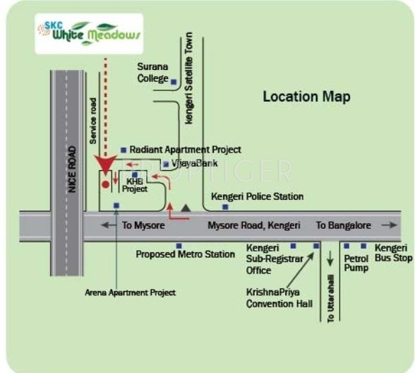 Images for Location Plan of Sri Krishna Constructions India White Meadows