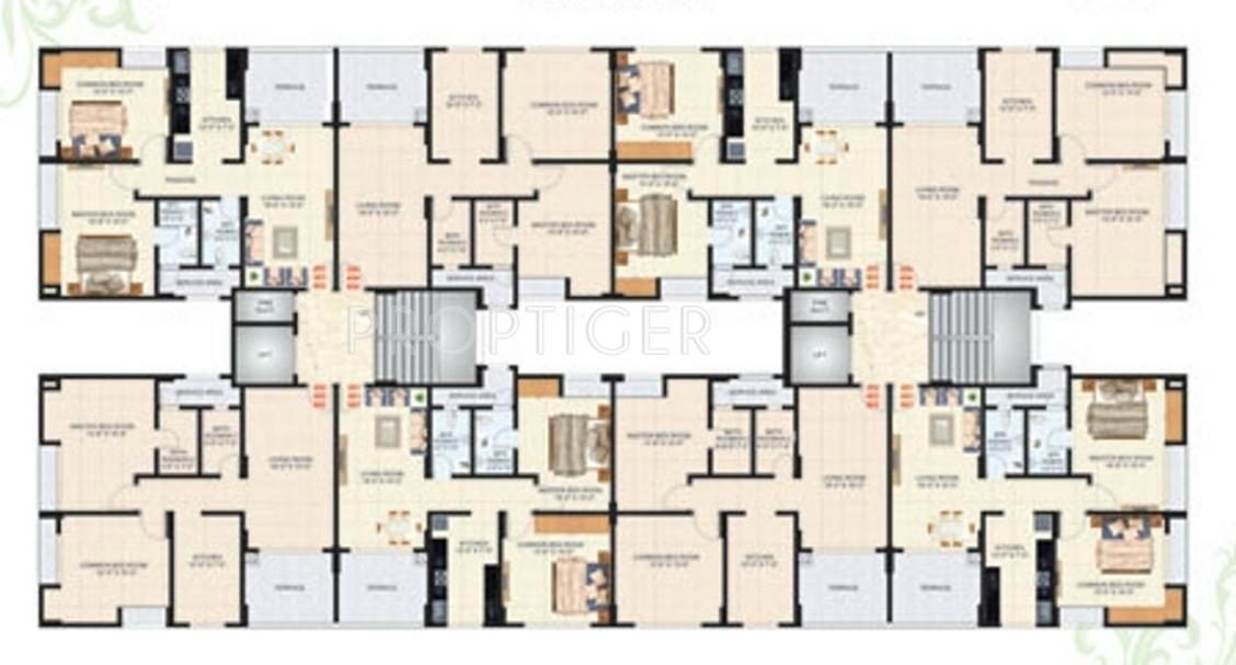 Happy home anant apartment in panvel mumbai price for Apartment cluster plans