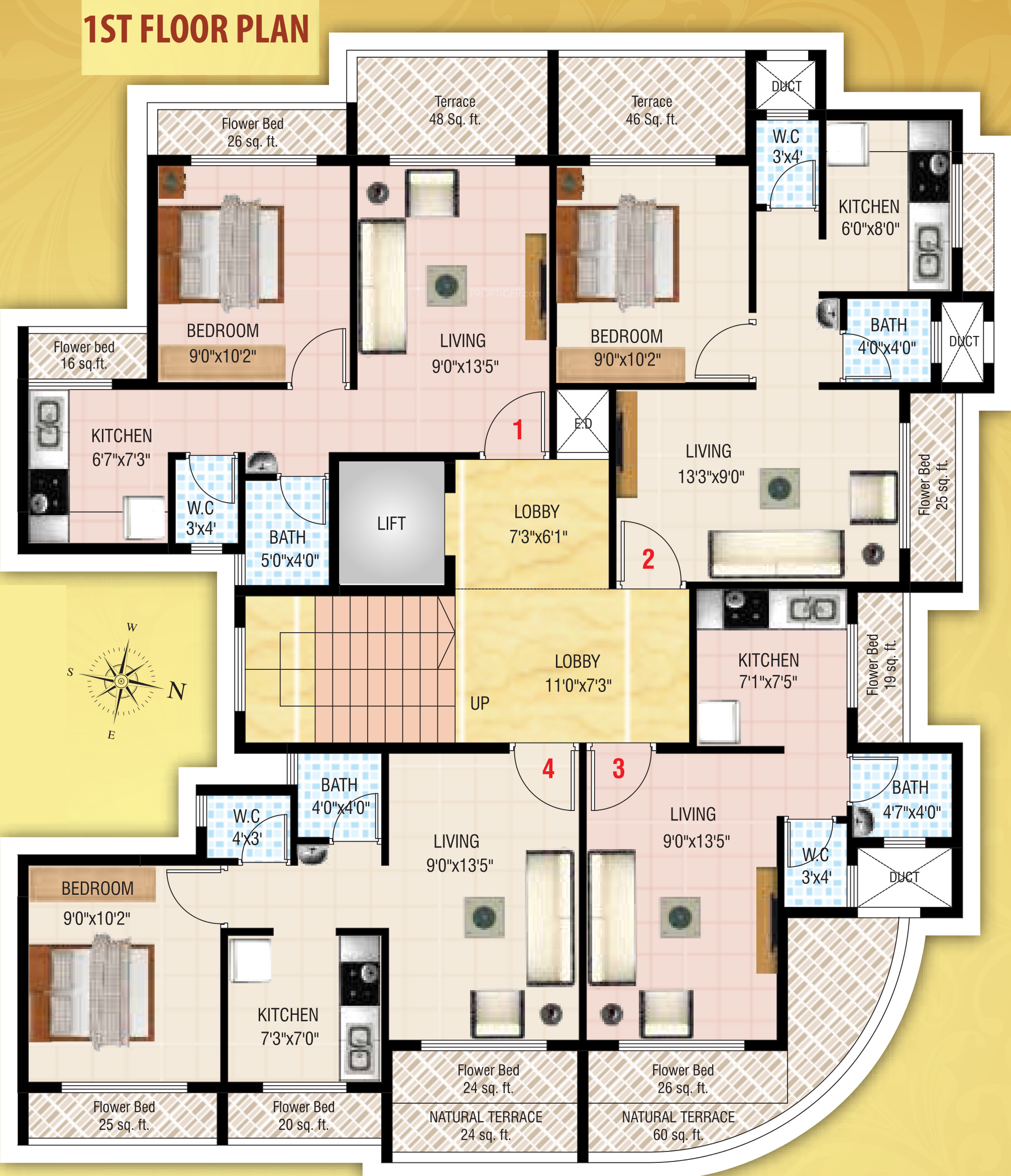 640 sq ft 1 bhk 1t apartment for sale in vankvanis for 640 square feet floor plan