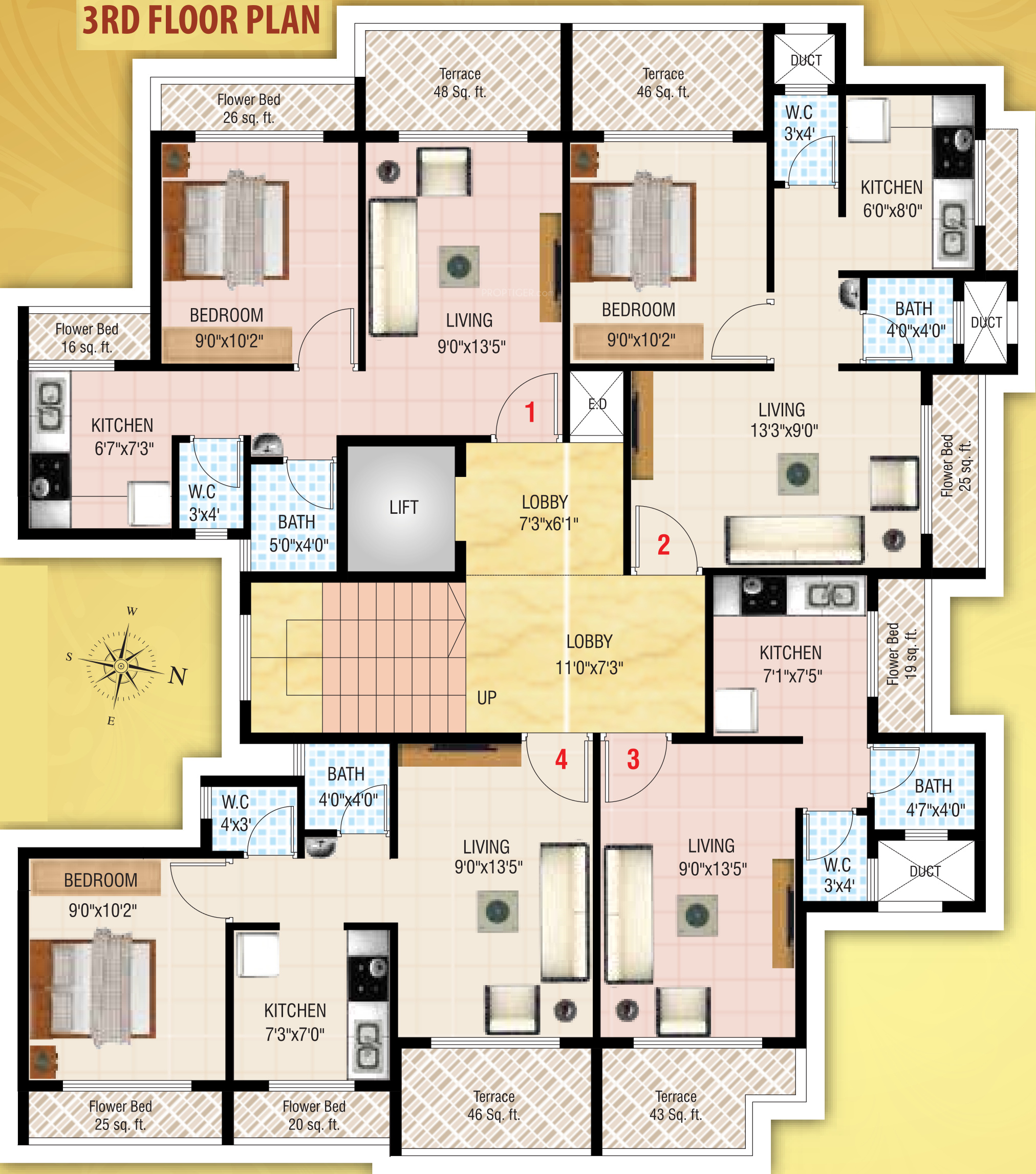 450 Sq Ft 1 Bhk 1t Apartment For Sale In Vankvanis Builders Bliss Ulwe Mumbai
