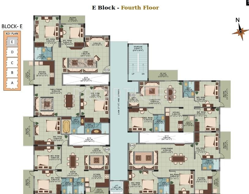 1010 sq ft 2 bhk 2t apartment for sale in ahad silver for 1010 family plan