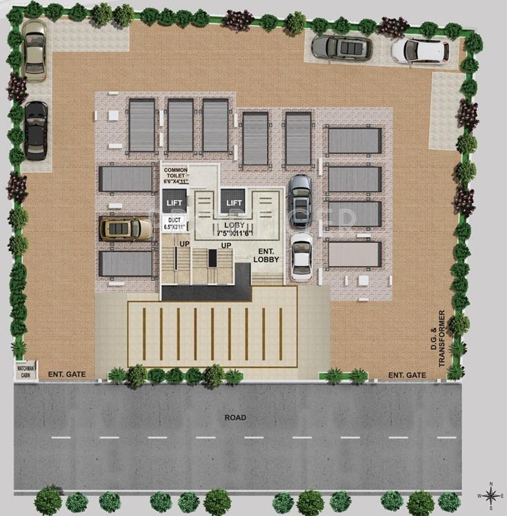 4393 Sq Ft 5 Bhk 6t Apartment For Sale In Swojas