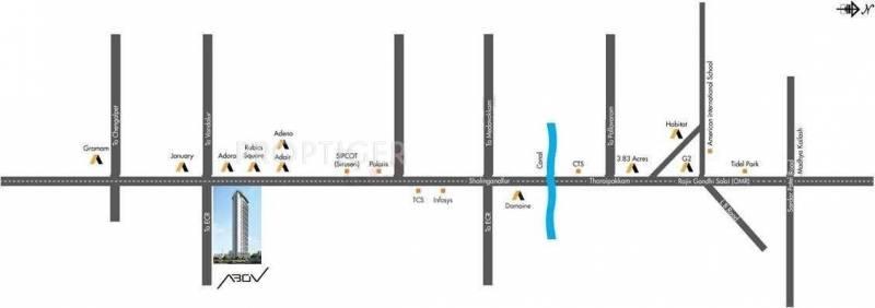 abov Images for Location Plan of Akshaya Abov