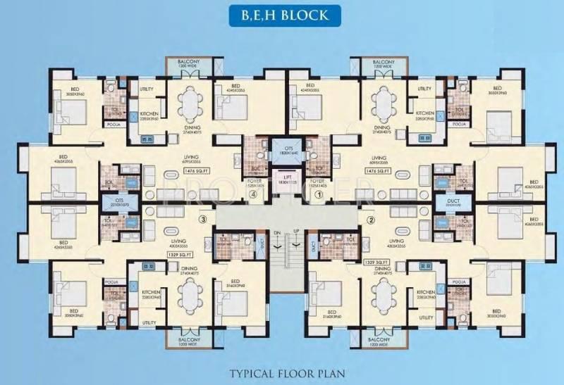 Images for Cluster Plan of Navin Jayaram Gardens