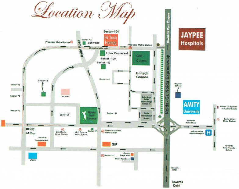 Images for Location Plan of Builders Hi Tech Homes
