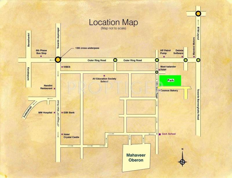 oberon Images for Location Plan of Mahaveer Oberon