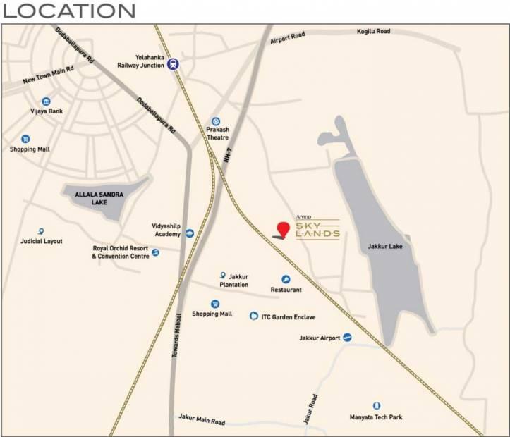 Images for Location Plan of Arvind Skylands