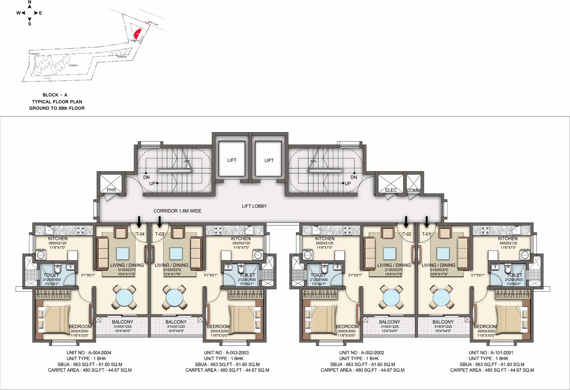 663 Sq Ft 1 Bhk 1t Apartment For Sale In Skylark Group