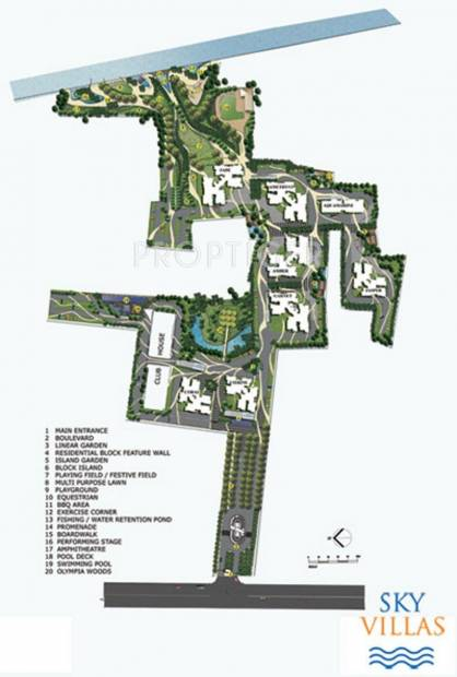 sky-villas Images for Layout Plan of Olympia Sky Villas