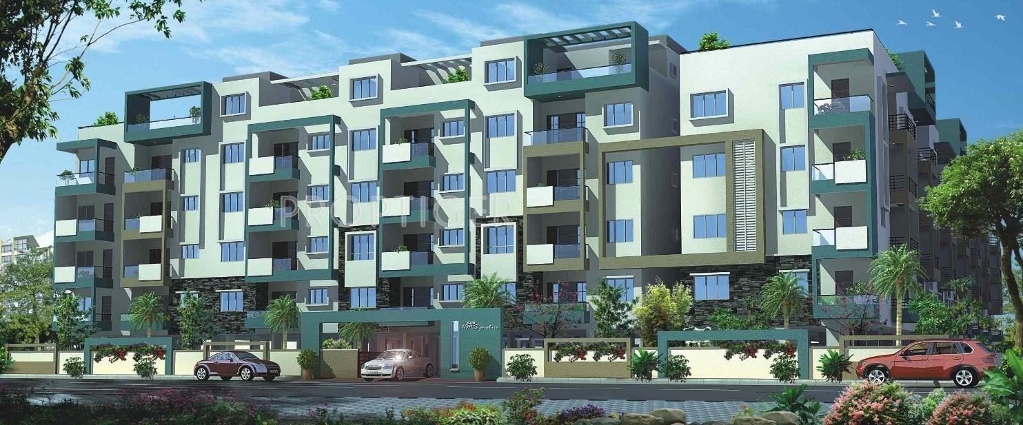 Elevation Stones Bangalore : Main elevation image of slv developers hm signature
