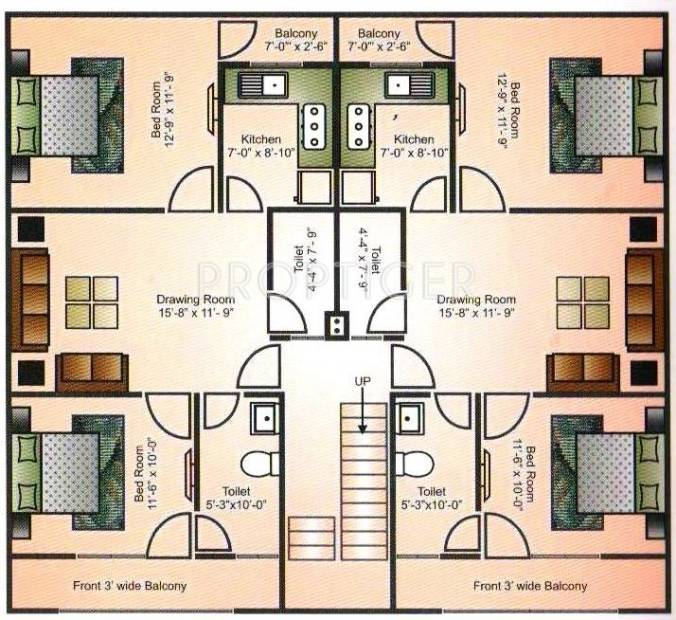 Images for Cluster Plan of Mehak Residency Apartment
