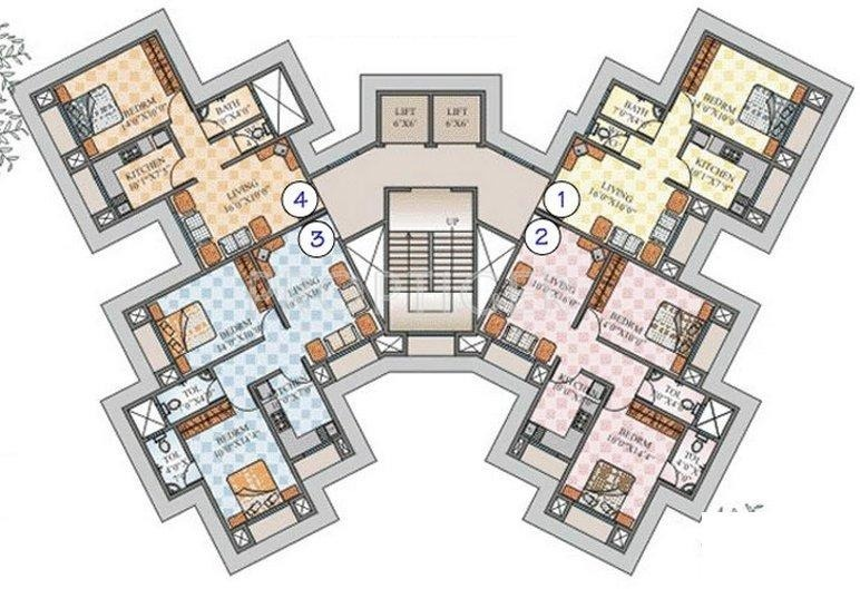 675 sq ft 1 bhk 1t apartment for sale in rupji for 675 sq ft floor plan