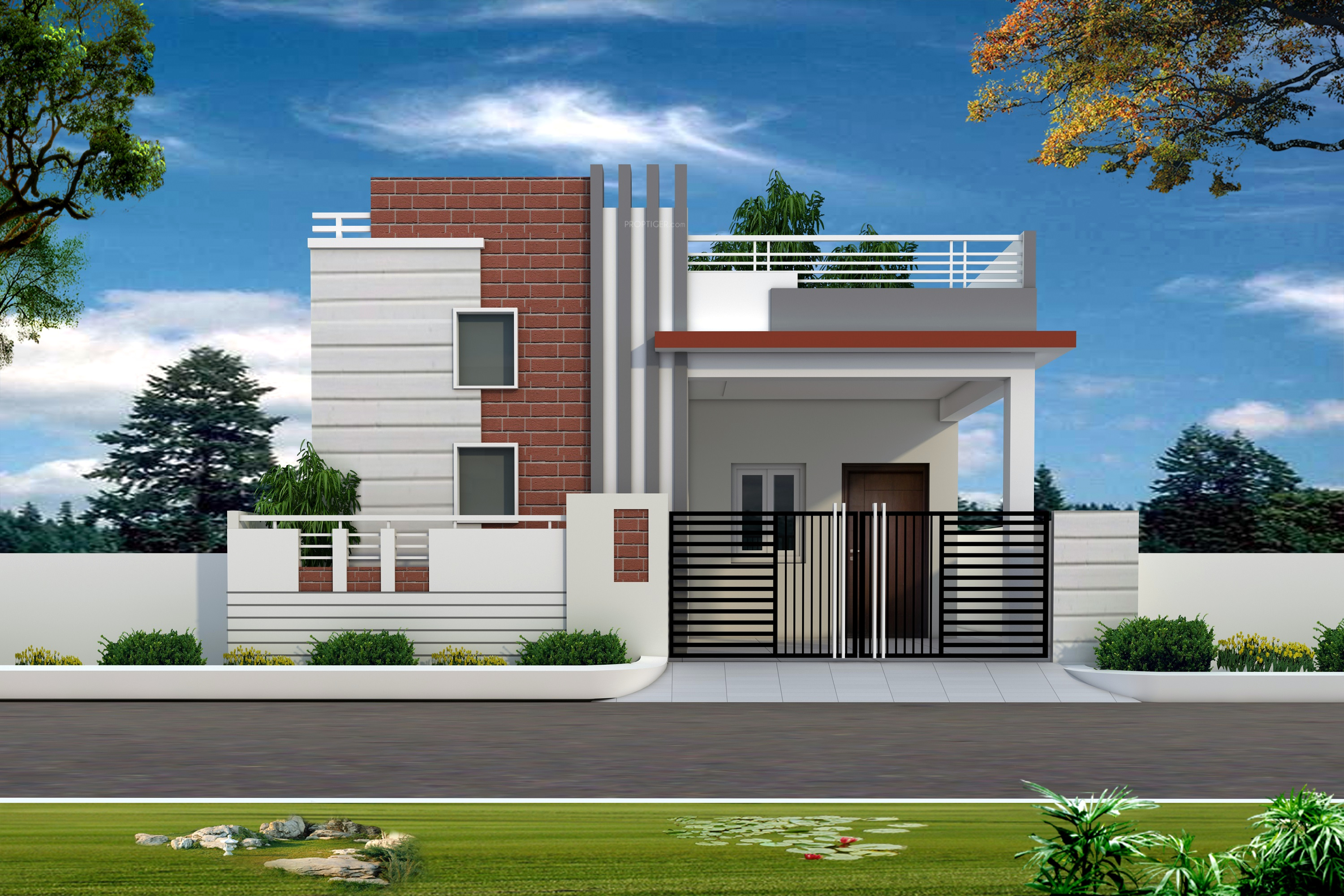2006 sq ft 3 bhk 3t villa for sale in srirasthu group for Independent house elevation photos