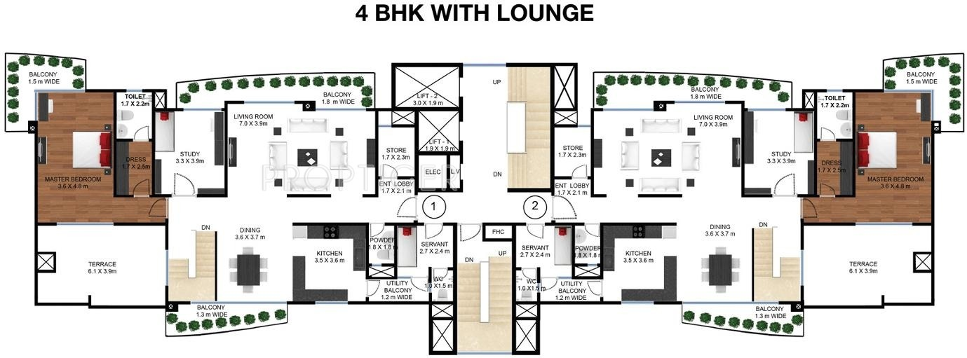 2753 sq ft 4 bhk 5t apartment for sale in godrej for Frontier plans