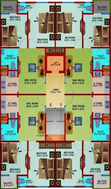 Images for Cluster Plan of Satyam SBI Residency 11