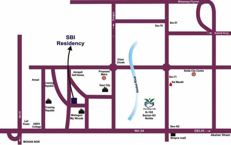 Images for Location Plan of Satyam SBI Residency 11