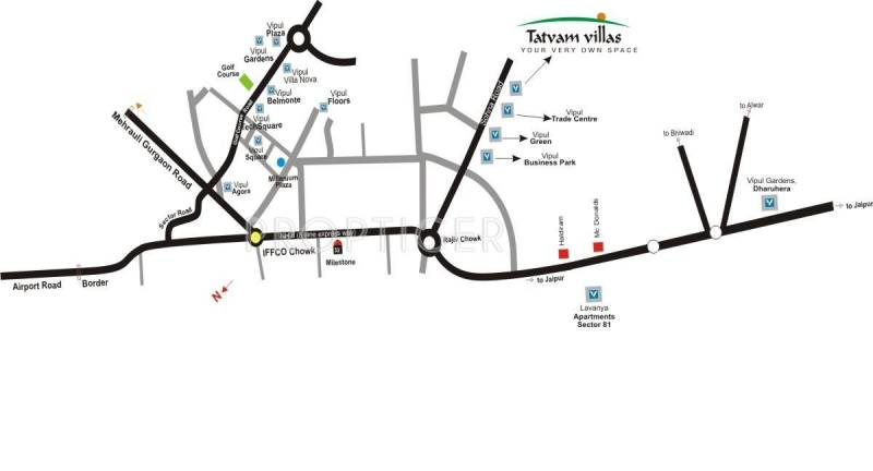 Images for Location Plan of Vipul Tatvam Villas