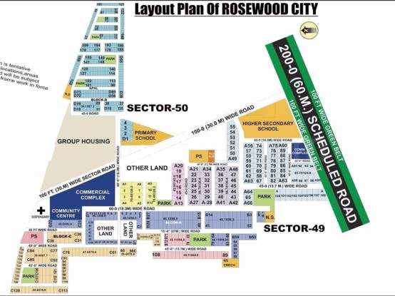 rosewood-city Layout Plan