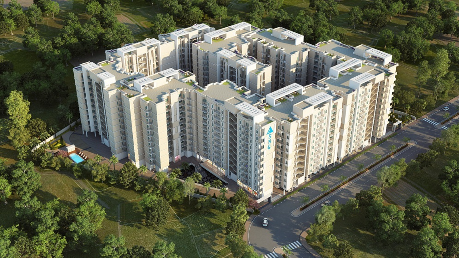Ghar Ground Floor Elevation : Sq ft bhk t apartment for sale in sng group apna