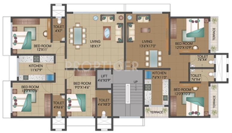750 Sq Ft 2 Bhk 2t Apartment For Sale In Shamik
