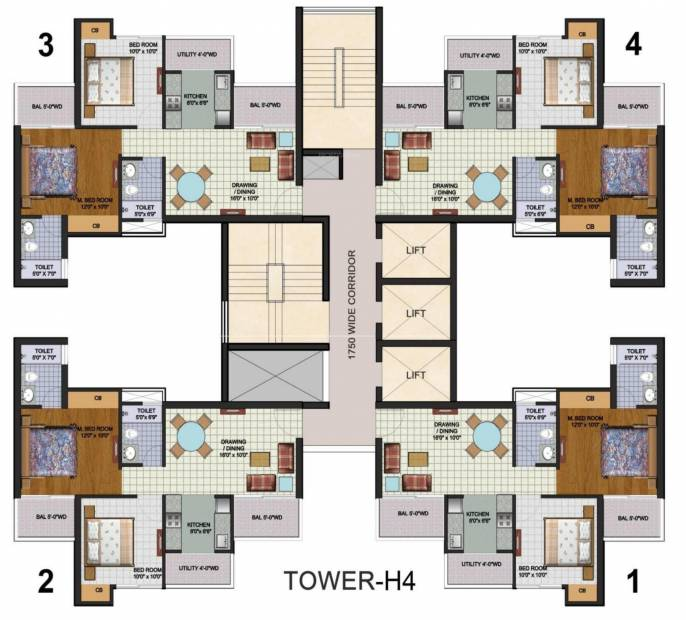 Images for Cluster Plan of Amrapali Augusta Tower