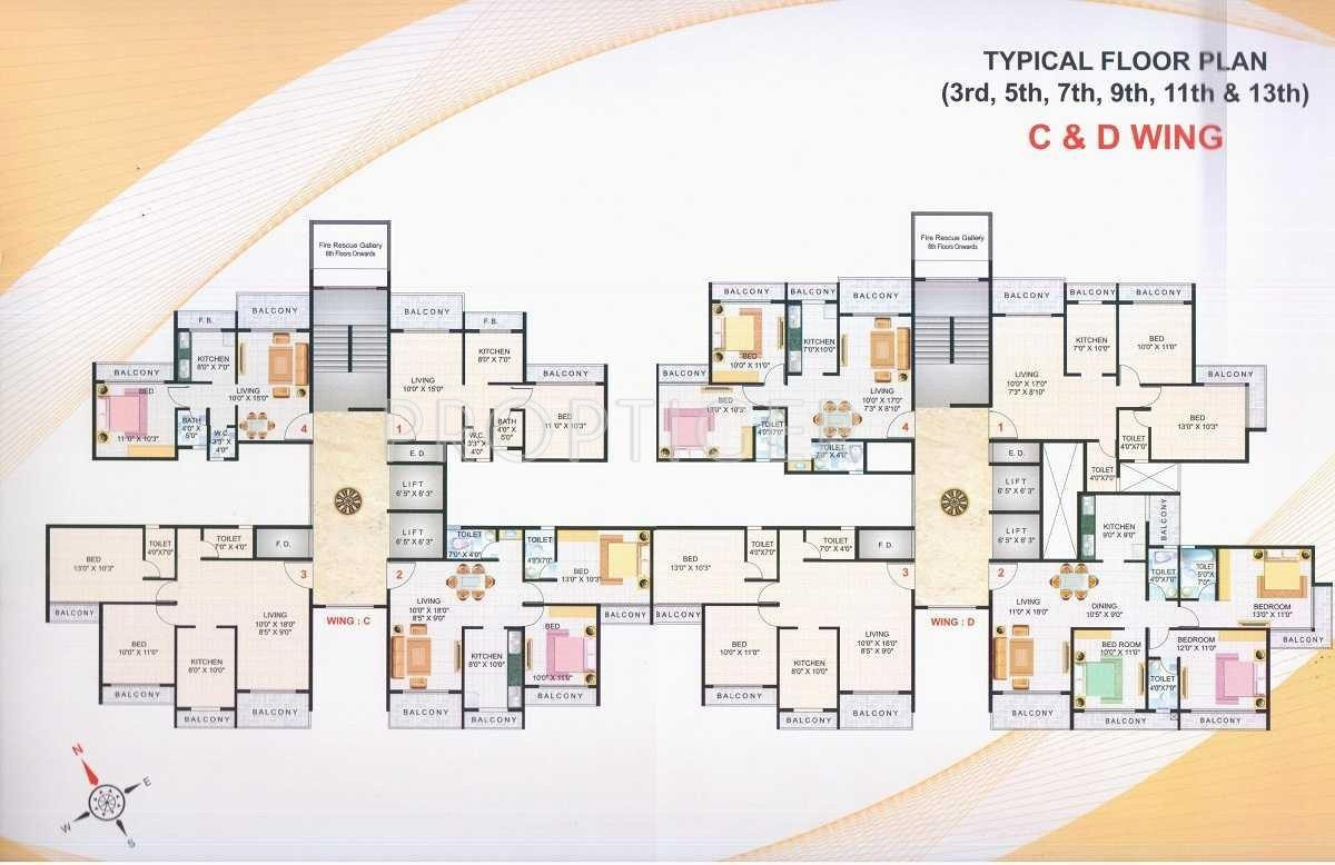 1 bhk 1t apartment for sale in raikar group yashodeep for Apartment cluster plans