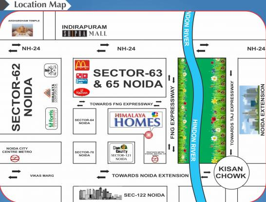 homes Images for Location Plan of Himalaya Homes