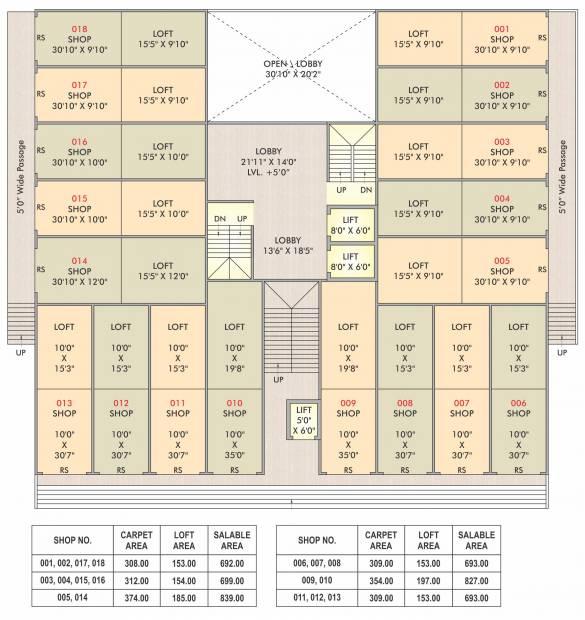 Images for Cluster Plan of Opulent Sheetal Square