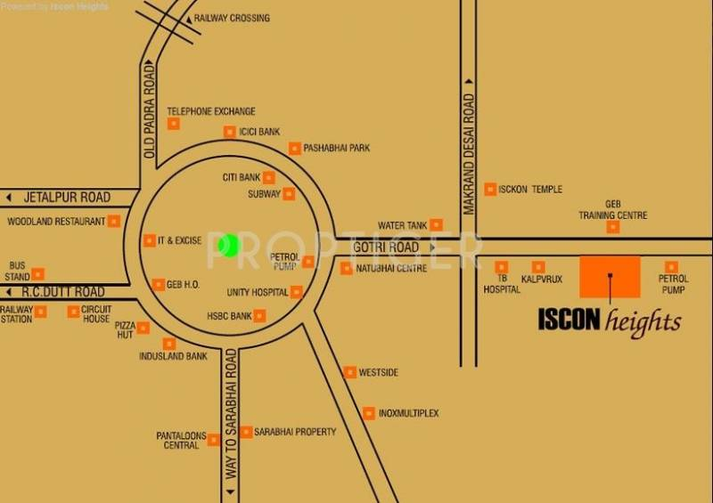 iscon-heights Location Plan