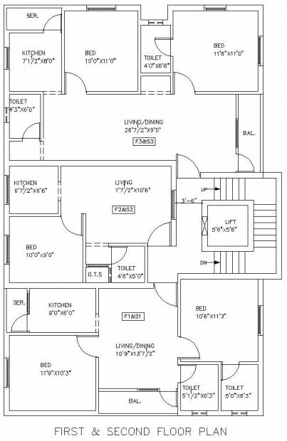 Images for Cluster Plan of M R Builders and Promoters P Ltd Good Sheapherd Apartments