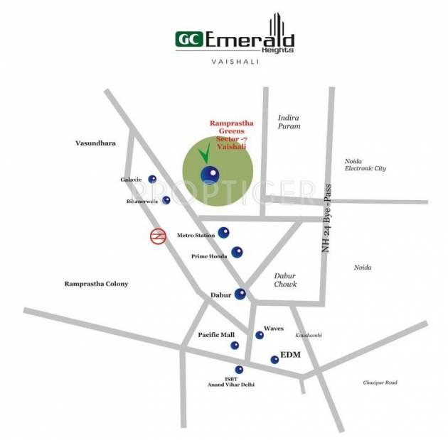 Ramprastha Emerald Heights Location Plan