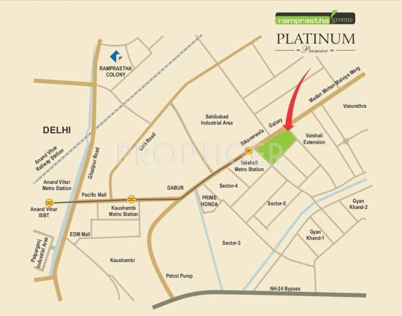 Images for Location Plan of Ramprastha Platinum Premier