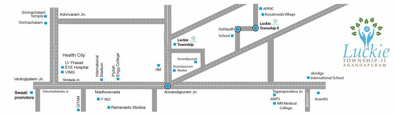 Images for Location Plan of Swathi Lucky Anandapuram