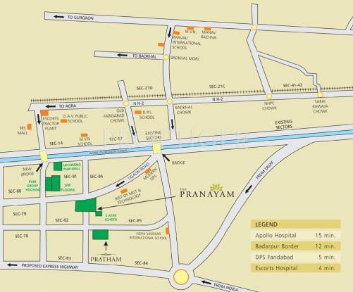 pranayam Images for Location Plan of Puri Pranayam