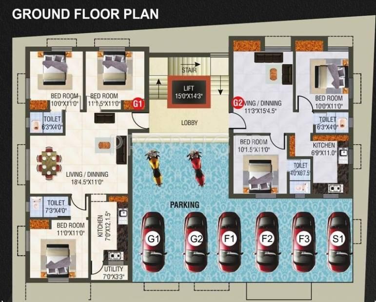 Images for Cluster Plan of SRM Builders Roshna